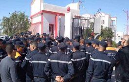 وزارة الداخلية تتوعد أعوان الحماية المدنية المحتجين