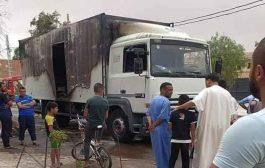 حريق شاحنة بالدبدابة في بشار يخلف مقتل طفل و إصابة 5 اخرين