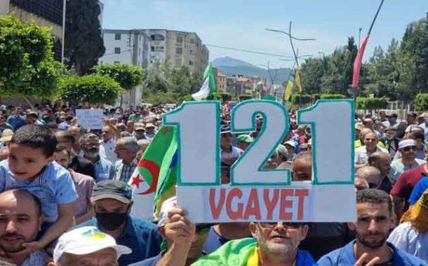 الحراك الشعبي في جمعته الـ121 : ماكانش الانتخابات مع العصابات