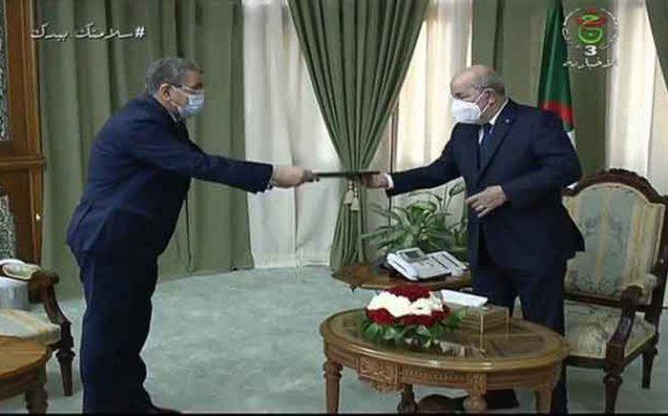 تقديم جراد استقالة حكومته لرئيس الجمهورية