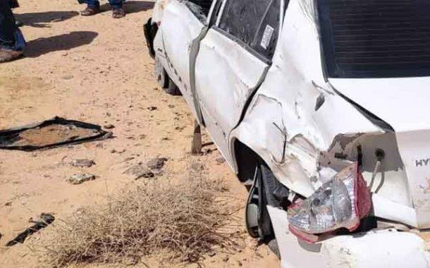 انقلاب سيارة يخلف مقتل سبعينية و إصابة 5 آخرين بالوادي