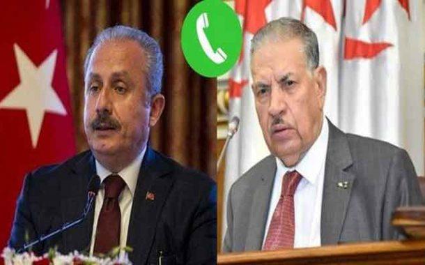 قوجيل يجري محادثات هاتفية مع رئيس الجمعية الوطنية الكبرى للجمهورية التركية