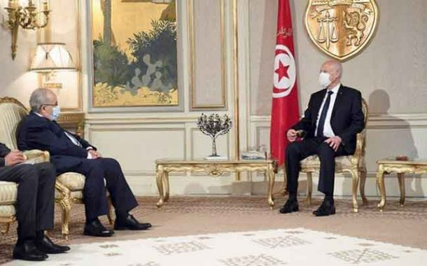اختتام لعمامرة زيارته لتونس باستقبال من قبل الرئيس قيس سعيد