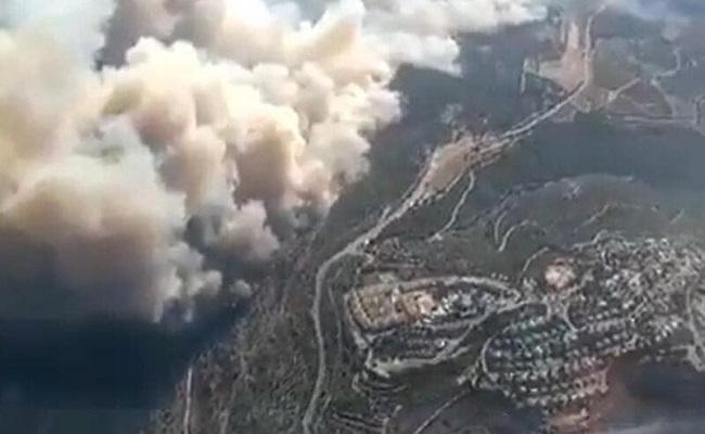 حريق ضخم في جبال القدس