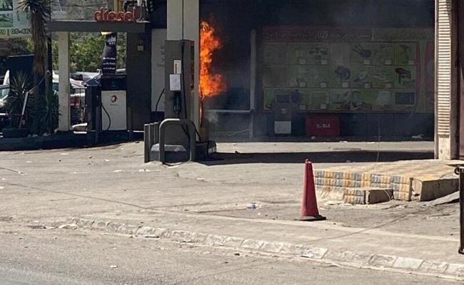 أعمال تخريبية في محطات الوقود في لبنان
