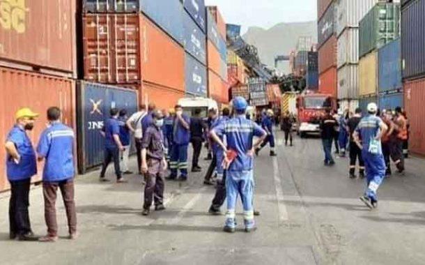 انهيار رافعة حاويات بميناء بجاية يخلف مصابا و خسائر معتبرة
