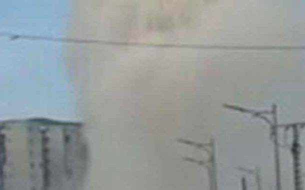 انفجار قناة لدفع المياة قرب محطة تحلية مياه البحر بالشلف