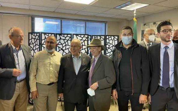 لعمامرة يعقد لقاء مع عدد من أفراد الجالية الجزائرية بأمريكا