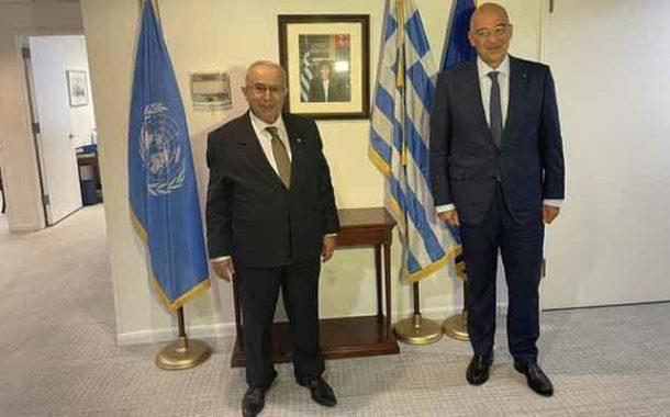 لقاء بين لعمامرة و نظيره اليوناني لبحث العلاقات الثنائية بين البلدين وسبل تقويتها