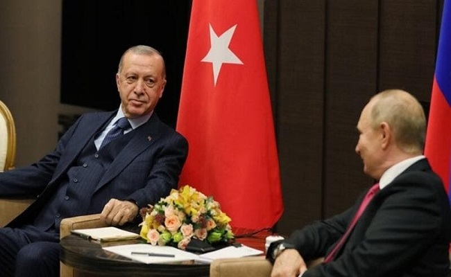 أردوغان يتفق مع بوتين على حل نهائي للنزاع في سوريا