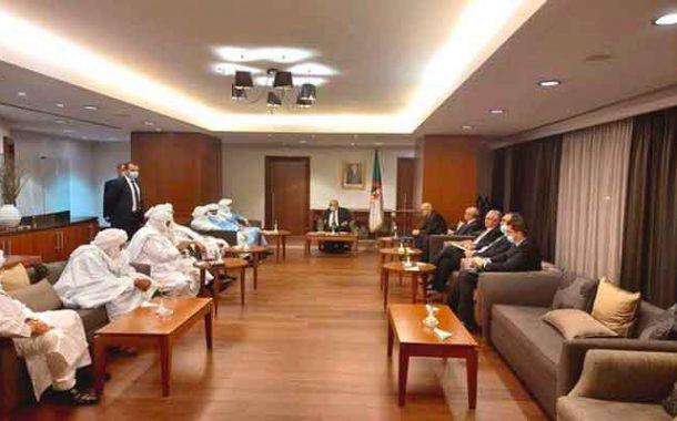 استقبال لعمامرة للوزير المالي للمصالحة و الموقعين على اتفاقية السلام