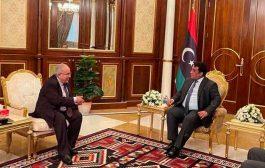لقاء بين لعمامرة و ر ئيس المجلس الرئاسي الليبي على هامش مشاركته في المؤتمر الدولي لدعم استقرار ليبيا