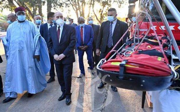 زيارة وزير داخلية النيجر لمؤسستين تابعتين للأمن الوطني والوحدة الوطنية للتدريب والتدخل للحماية المدنية بالعاصمة